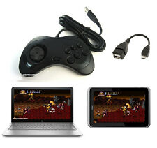Wired Sega SATURN Gaming OTG USB Controller Gamepad for for PC, laptop, tablet