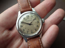 Vintage Rare Longines 23M Military Hand Winding Stainless Steel Watch 1944