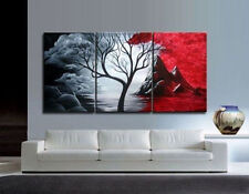 Asian style Modern Abstract Huge Art Oil Painting Canvas Large Tree+gift