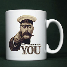 Lord Kitchener - World War 1 Recruiting Poster, WW1, First, Personalised Mug,Cup