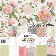 Cottage Rose Collection 12X12 Scrapbooking Kit Kaisercraft Paper Crafting NEW