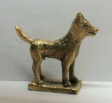 Figuren amulett miniatur - Hund Messing Bronze