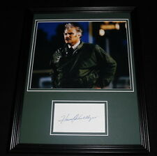 Howard Schnellenberger Signed Framed 11x14 Photo Display Miami Hurricanes B