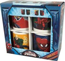 Spiderman: Ultimate Spiderman Taza Set - Nuevo Y Oficial Marvel Comics En Caja