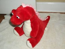 "Dragon Plush Stuffed Animal Toy, Red, White & Pink,  Yellow, 11"" Tall"