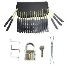 25pcs Lock Smith Practice Lock Pick Tool Set with Transparent Padlock 【ePacket】