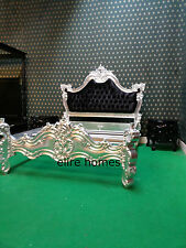 BESPOKE ~ Any Size Any Color  BLACK Chatelet Gothic style French Bed not rococo