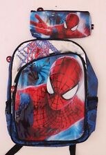 Original Marvel The Amazing Spider-Man Bookbag Backpack with Pencil case NWT