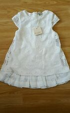 Eliane et lena white laced dress 18 mths