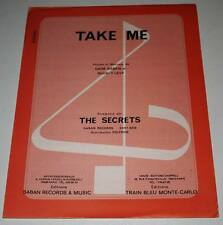 Partition sheet music THE SECRETS : Take Me * 70's Saban Levy