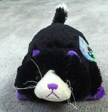 New Curious Cat Pillow Pets Pee Wees 11 Inch Stuffed Animal Black Purple