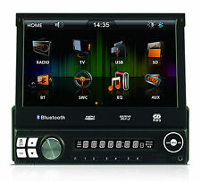 "Multimedia Bluetooth Car Stereo With 7"" Flip Up TFT Touch Screen Display USB SD"