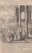 Michael Natalis (1610-1668) Storia della vita di Gesù dal Vangelo acquaforte