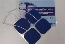 12 NEW Replacement Electrode Pads for Top Tens Units  2 x 2inch Blue Cloth