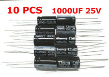 10pcs 1000UF 25V LOW ESR Radial Electrolytic Capacitor Computer Motherboard