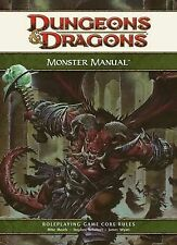 Dungeons & Dragons D&D Monster Manual 4.0 Ed Roleplaying Game Core Rules