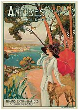 ANTIBES COTE D AZUR Vintage Travel Poster Premium CANVAS PRINT 24x32 in.