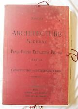 BARQUI / ARCHITECTURE MODERNE, PLANS COUPES ELEVATIONS PROFILS / IN-FOLIO