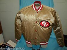 San Francisco 49ers Forty Niners Gold Chalk Line NFL Jacket Size XL Extra Large