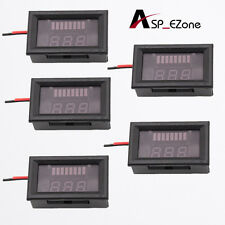 5pcs Charge Level Indicator Voltmeter for 12V Lead-acid Battery