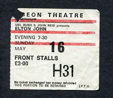 1976 Elton John concert ticket stub Birmingham Rock Of The Westies Island Girl