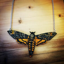 Deaths Head Hawkmoth Moth Silence of the Lambs Charm Necklace Gothic Rockabilly