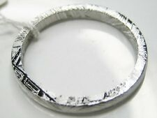 9/ S  GIBEON IRON NICKEL METEORITE 2.7MM THIN BAND RING 2.5g