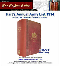 Harts Annual British Army List 1914 DVD WW1 Indexed Searchable
