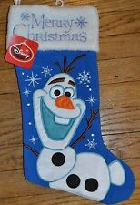 "17"" Disney Frozen Olaf Stocking Embroidered Accent Design Officially Licensed"