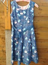 Laura Ashley Linen and cotton Nautical dress size 16 women's ladies summer