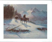 """Olaf Wieghorst , """"Rocky Mountain Trail""""  Cowboy,  Western Art Print"""