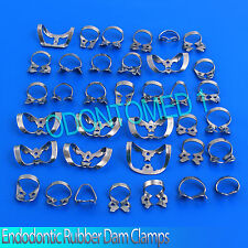 19 Pcs. Endodontic Rubber Dam Clamps Dental Orthodontic Instrument