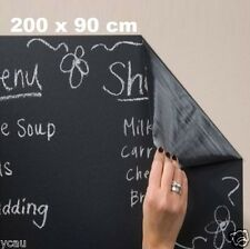 Large Chalkboard Sticker 200x90cm STICK ON Blackboard  DIY Wall Decal Black New