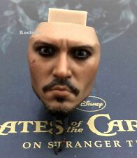 Hot Toys DX06 Pirates of Caribbean Jack Sparrow 1/6 Scale Face Head Sculpt Angry