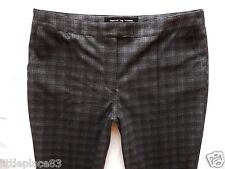 BNWT NEXT grey checked tapered leg stretch ankle grazers workwear trousers 18 R