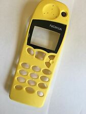 Nokia 5110 Front Cover in Yellow incl. Screen Display Glass - Original Brand New