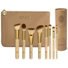 Zoeva 8pcs brushes with cosmetic bag/holder Bamboo Makeup Kit
