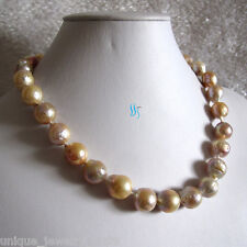 "18"" 12-14mm AA Pink Lavender Kasumi Freshwater Pearl Necklace"