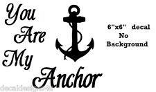 You are my Anchor decal sticker for Glass Block Shadow Box