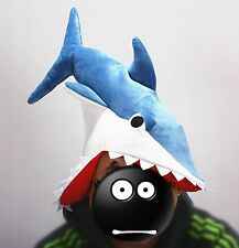 Novelty Great Funny Hat Shark Hat Bite Roleplay Plush Unisex Rare X'mas Party