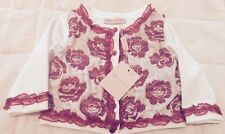 Blumarine Baby Girls Designer Cardigan Floral Lace Embroidered 6 Months New
