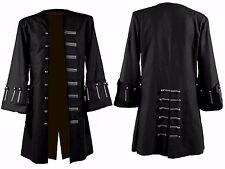 Jack Sparrow Pirates Of The Caribbean 5 Johnny Depp  Costume Black Trench Coat