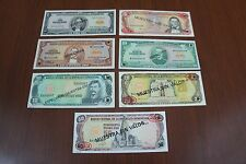 Dominican Republic Banco Central de la Republica Dominicana Specimens. Set of 7