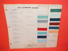 1955 PLYMOUTH BELVEDERE CONVERTIBLE COUPE SAVOY PLAZA SUBURBAN WAGON PAINT CHIPS