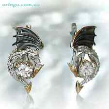 INSPIRED BY GAME OF THRONES DRAGON EARRINGS LEVER BACK STERLING SILVER 925