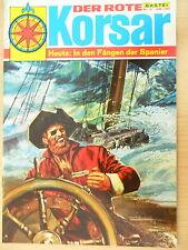 1 x Comic - Der rote Korsar - Band Nr. 9 - In den Fängen der Spanier - Bastei