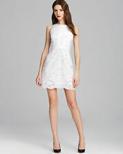 MILLY $385 WHITE EMBROIDERED EYELET FLORAL CLAUDIA DRESS  8