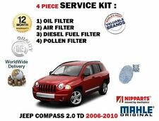 FÜR JEEP COMPASS 2.0 DT 06-12/2010 WARTUNG ÖL LUFT BENZIN POLLEN 4 FILTER KIT