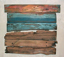 Abstract Sunset on Beach Salvaged Reclaimed Barn Wood Distressed Driftwood Art