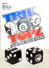 Trick Top Schrader Valve Caps / Black Dice NEW!